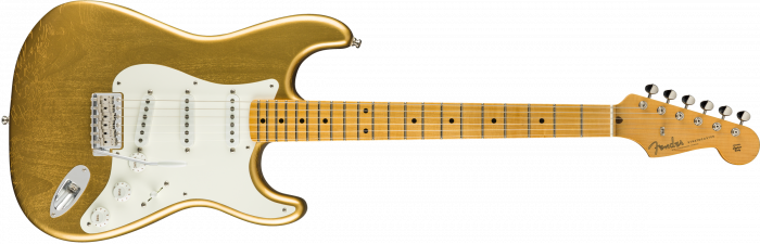 Fender Custom Shop Jimmie Vaughan Stratocaster  Aged Aztec Gold Electric Guitar 1503202844