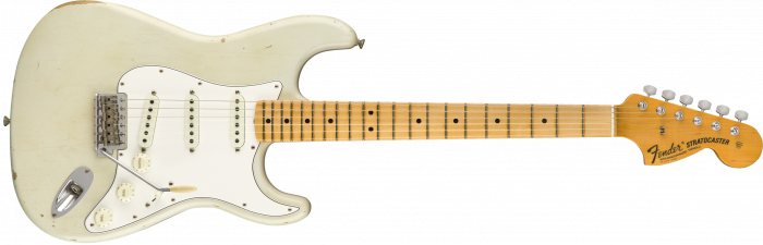 Fender Custom Shop 1968 Relic Stratocaster  Aged Olympic White Electric Guitar 9235000517