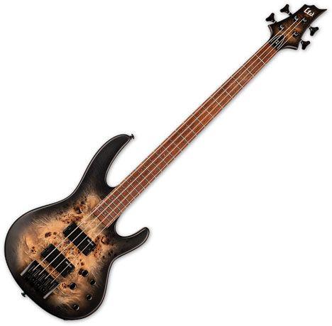 ESP LTD D-4 Electric Bass Black Natural Burst Satin LD4BPBLKNBS