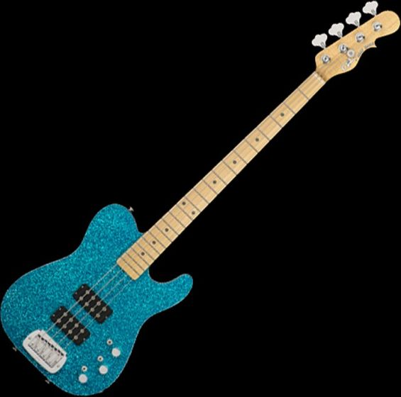 G&L USA ASAT Tom Hamilton Electric Bass in Turquoise Metal Flake sku number 107775