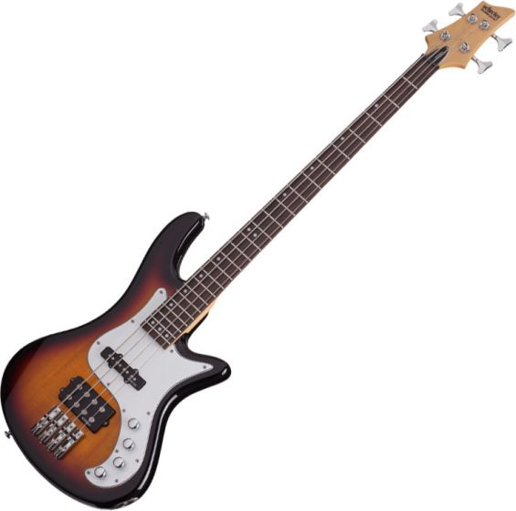 Schecter Stiletto Vintage-4 Electric Bass 3-Tone Sunburst sku number SCHECTER2524