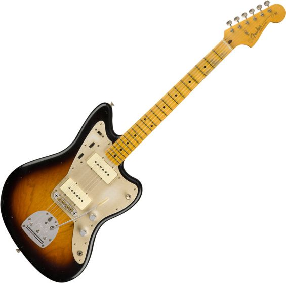 Fender Custom Shop 50's Journeyman Relic Jazzmaster Electric Guitar 3-Color Sunburst 9235000533