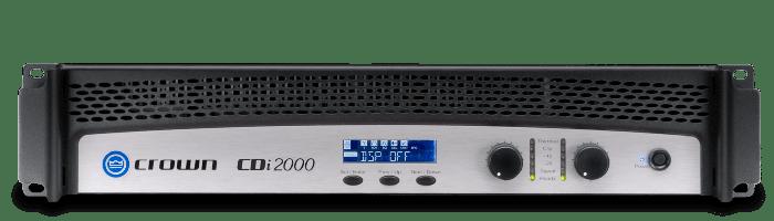 Crown Audio CDi 2000 Two Channel 800W Power Amplifier NCDI2000