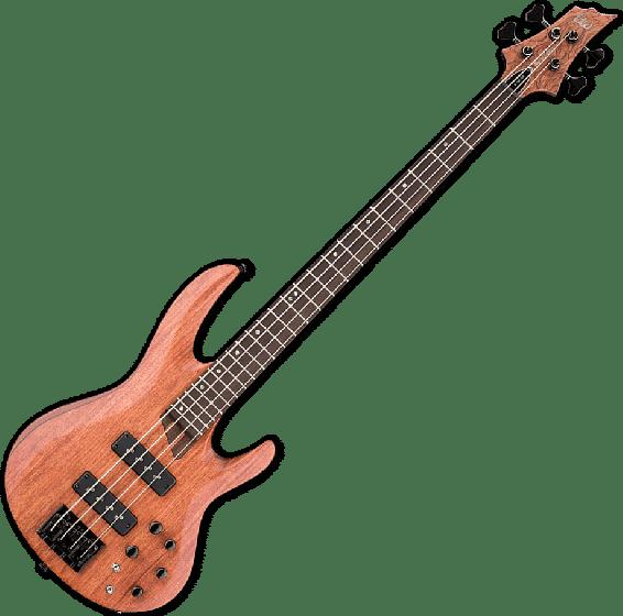 ESP LTD B-1004SE Bubinga Top Electric Bass in Natural Satin LB1004SEBNS