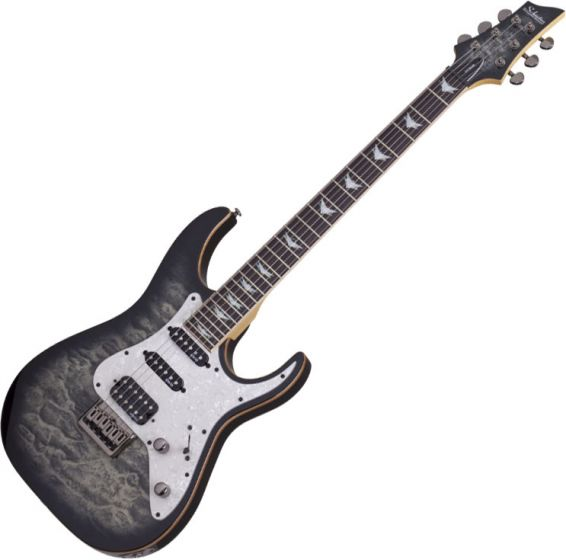 Schecter Banshee-6 Extreme Electric Guitar in Charcoal Burst Finish SCHECTER1992