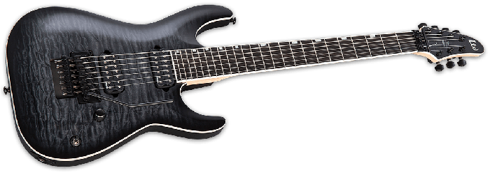 ESP LTD BS-7B Ben Savage 7 strings Baritone Electric Guitar in See Thru Black Sunburst LBS7BQMSTBLKSB