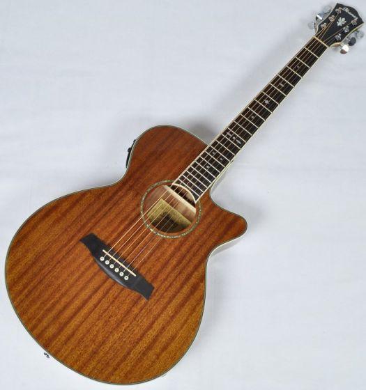 Ibanez AEG12II-NT AEG Series Acoustic Electric Guitar in Natural High Gloss Finish sku number AEG12IINT