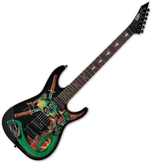 ESP George Lynch Skulls & Snakes Signature Electric Guitar Black EGLSS