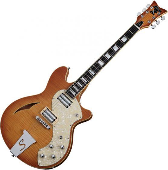 Schecter TSH-1 Classic Electric Guitar Vintage Natural Burst sku number SCHECTER178