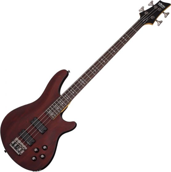 Schecter Omen-4 Electric Bass in Walnut Satin Finish SCHECTER2091