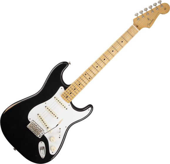 Fender Road Worn '50s Stratocaster Electric Guitar Black 0131012306