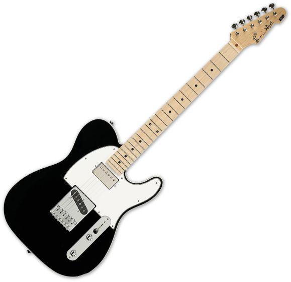 ESP Ron Wood Black Guitar with Case ERONBLK