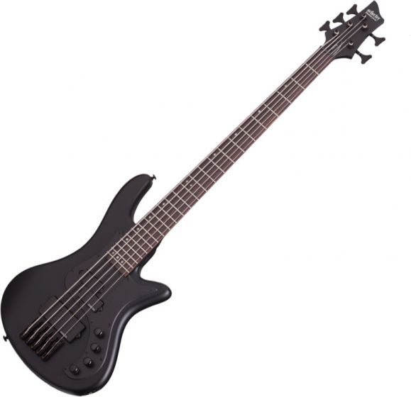 Schecter Stiletto Stealth-5 Electric Bass Satin Black sku number SCHECTER2523