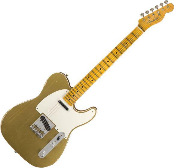 Fender Custom Shop 2018 Limited Double Esquire Special - Journeyman Relic Electric Guitar Aztec Gold 9235000553