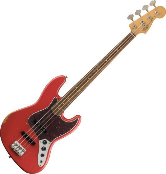 Fender Road Worn 60s Jazz Bass Electric Guitar Fiesta Red 0131813340