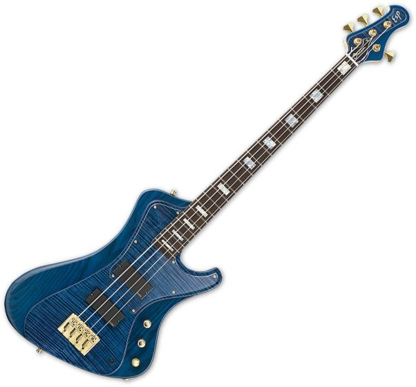 ESP Stream CTM Electric Bass in Marine Blue ESTREAMCTMMARBL