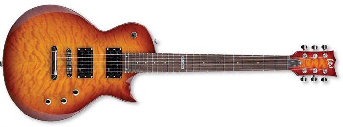 ESP LTD EC-100QM Quilt Maple Faded Cherry Sunburst Guitar sku number LEC100QMFCSB