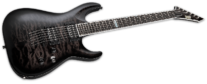 ESP USA Horizon-II Electric Guitar in See Thru Black Sunburst Duncan EUSHORIISTBLKSBD