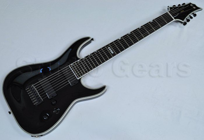 ESP E-II HRF-NT8 B BLK 8-String Baritone Electric Guitar EIIHRFNT8BBLK