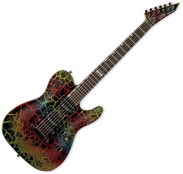 ESP LTD Eclipse 87 NT Electric Guitar in Rainbow Crackle Finish sku number LECLIPSENT87RBCRK