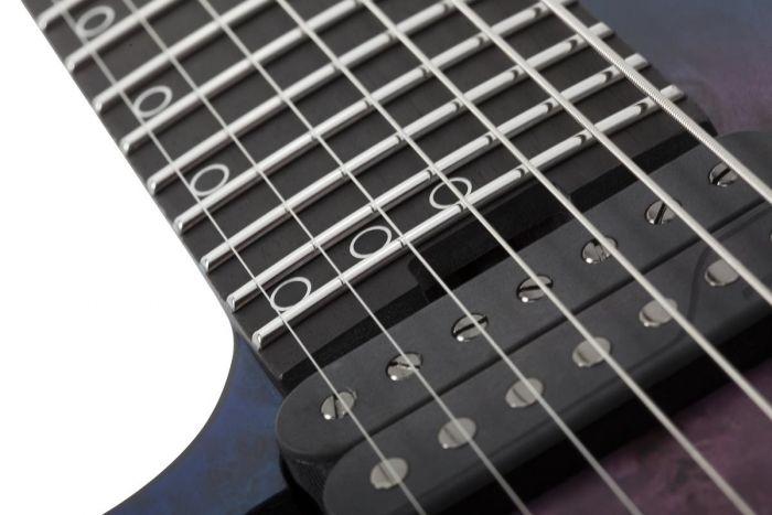 Schecter MK-7 MK-III Left Handed Electric Guitar in Trans Black Burst SCHECTER306