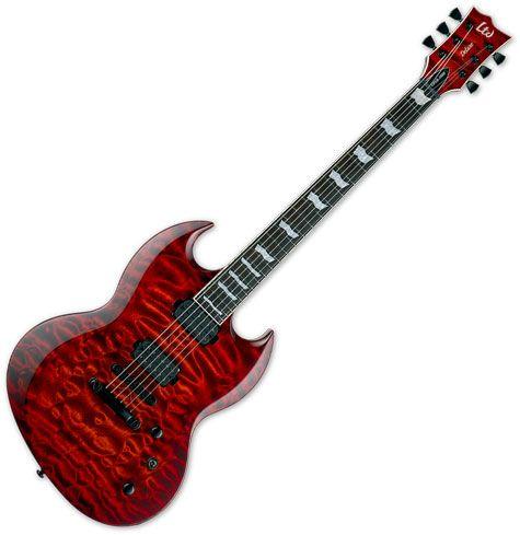 ESP LTD Viper-1000 Electric Guitar Tiger Eye Sunburst LVIPER1000QMTESB