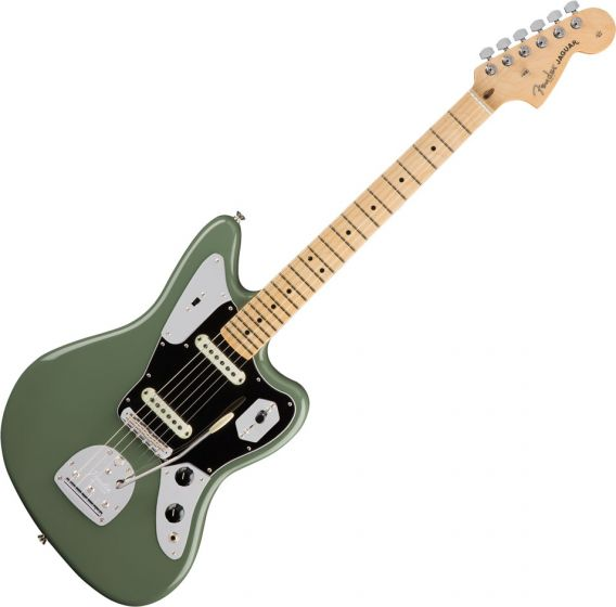 Fender American Professional Jaguar Electric Guitar Antique Olive 0114012776