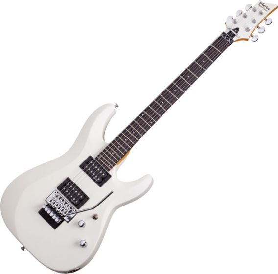 Schecter C-6 FR Deluxe Electric Guitar Satin White SCHECTER435