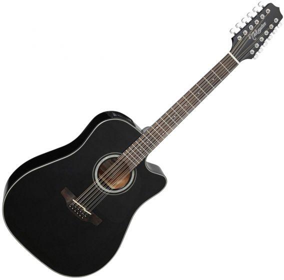 Takamine GD30CE-12BLK Dreadnought Acoustic Electric Guitar Gloss Black TAKGD30CE12BLK