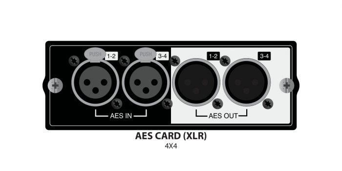Soundcraft AES/EBU 4x4 XLR Card A520.002000SP