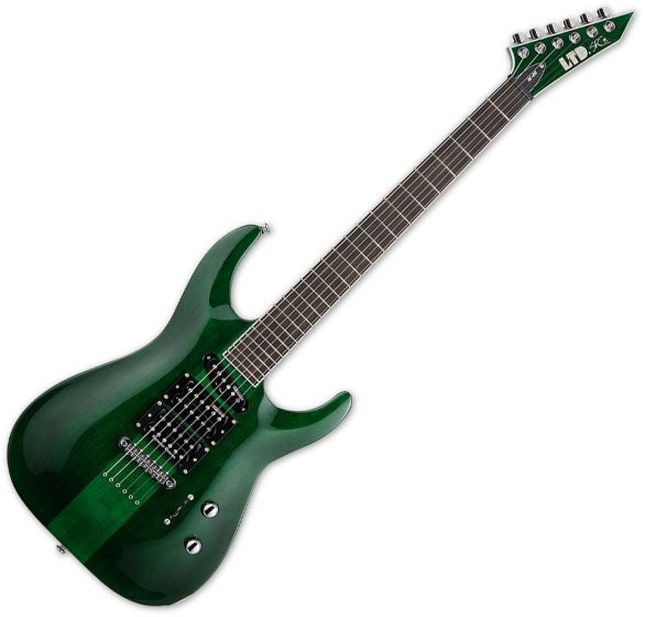 ESP LTD SC-20 Stephen Carpenter Electric Guitar See Thru Green LSC20STG