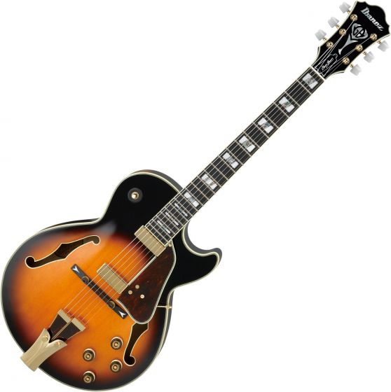 Ibanez Signature George Benson GB10 Hollow Body Electric Guitar in Brown Sunburst with Case sku number GB10BS