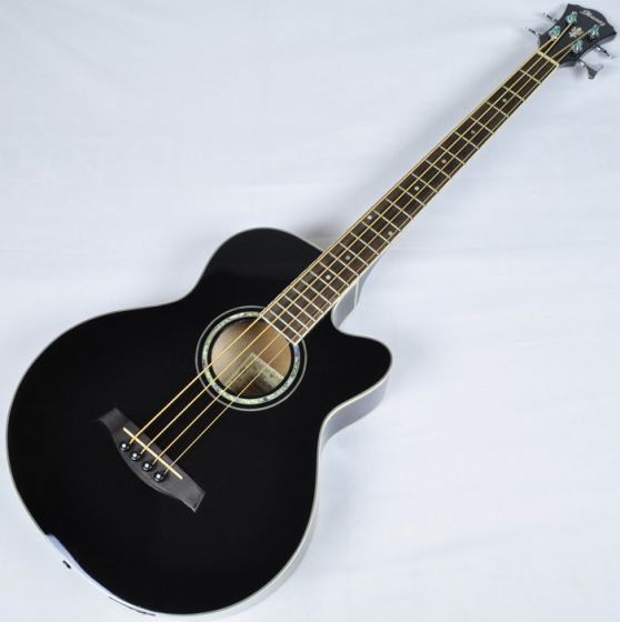 Ibanez AEB10E-BK Artwood Series Acoustic Electric Bass in Black High Gloss Finish sku number AEB10EBK.B