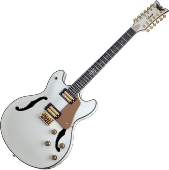 Schecter Wanye Hussey Corsair-12 Semi-Hollow Electric Guitar Ivory SCHECTER267