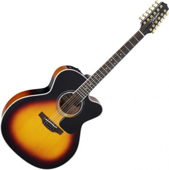Takamine P6JC-12 Jumbo 12-String Acoustic Electric Guitar Brown Sunburst B-Stock TAKP6JC12BSB.B