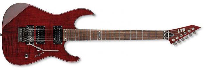 ESP LTD M-100FM Guitar in See-Through Black Cherry LM100FMSTBC
