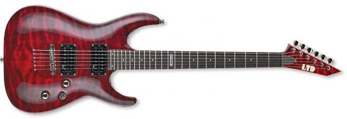ESP LTD MH-100QMNT Guitar in See-Through Black Cherry sku number LMH100QMNTSTBC