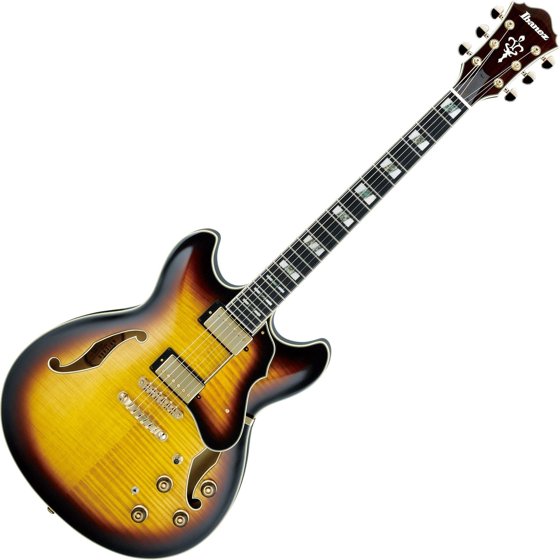 ibanez artstar as153 hollow body electric guitar antique yellow sunbur. Black Bedroom Furniture Sets. Home Design Ideas
