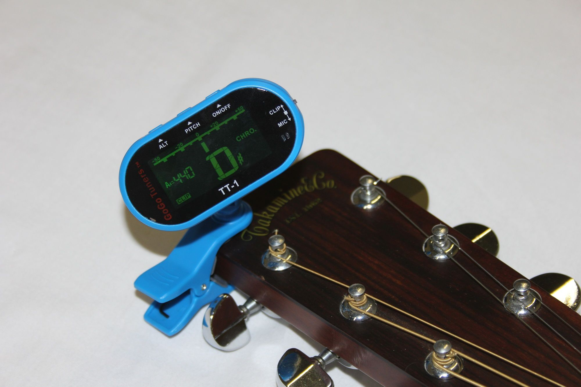 GoGo Tuners Blue TT-1 Chromatic Guitar, Bass, Violin, Viola Tuner
