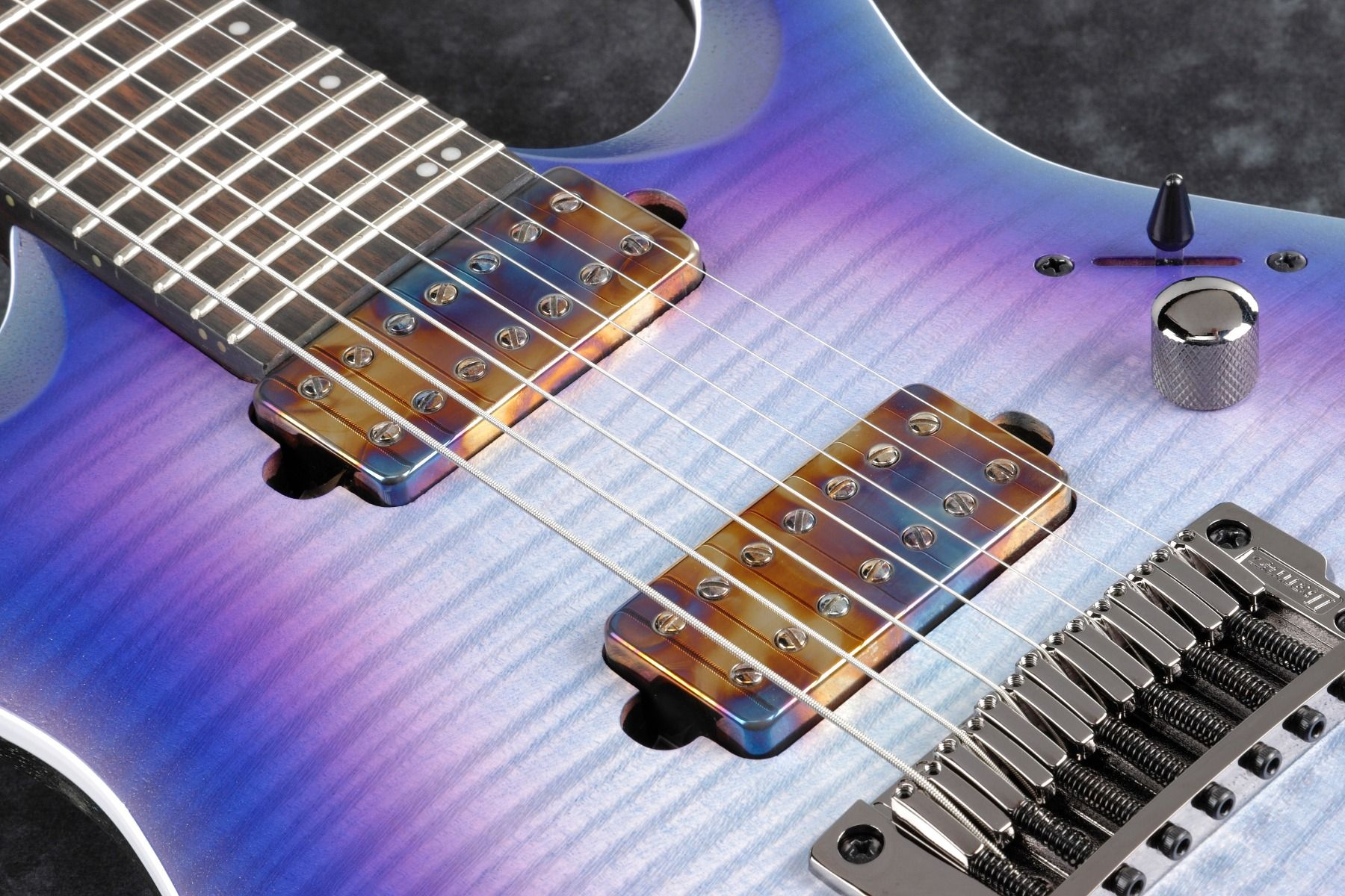 Ibanez RGA71AL IAF RGA Axion Label 7 String Indigo Aurora Burst Flat  Electric Guitar