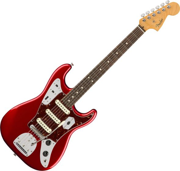 Fender 2018 Limited Edition Jaguar Strat Electric Guitar in Candy Apple Red 0176070709
