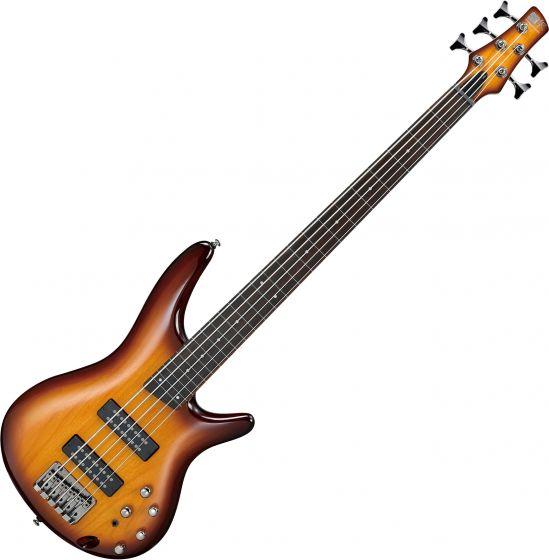 Ibanez SR Standard SR375EF Fretless 5 String Electric Bass Brown Burst SR375EFBBT