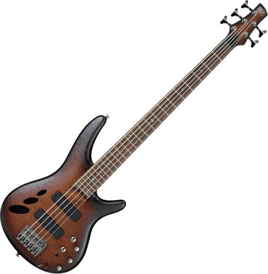 Ibanez SR Standard SR30TH5 5 String Semi-Hollow Electric Bass Natural Browned Burst Flat SR30TH5NNF