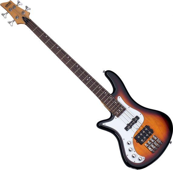 Schecter Stiletto Vintage-4 Left-Handed Electric Bass 3-Tone Sunburst SCHECTER2528