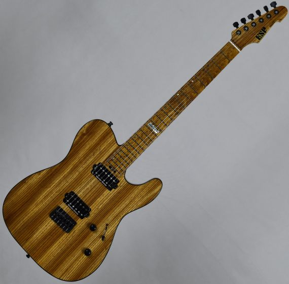 ESP USA TE-II Zebrawood Limited Edition Electric Guitar in Natural Gloss EUSTEIIZEBNATS
