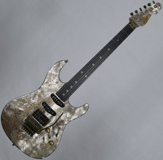 ESP Exhibition Limited Snapper-CTM FR Sand-Blast Maziora Gold Leaf Electric Guitar EEX1742