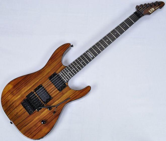 ESP LTD Deluxe M-1000 KOA Top Guitar in Natural LM1000KNAT