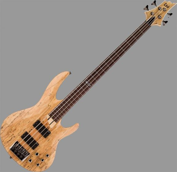 ESP LTD B-204SM Fretless Bass in Natural Stain Finish LB204SMFLNS