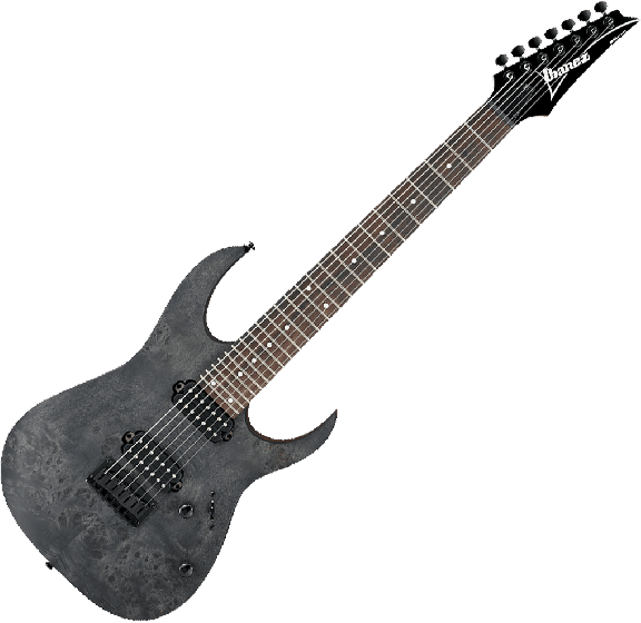 Ibanez RG Standard RG7421PB 7 String Electric Guitar in Transparent Gray Flat RG7421PBTGF