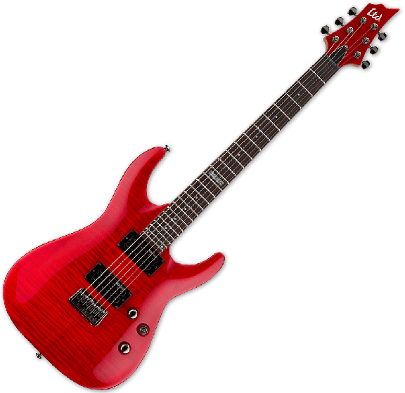ESP LTD H-101FM Electric Guitar in See Thru Red LH101FMSTR
